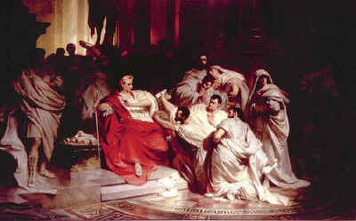 painting julius caesar moord