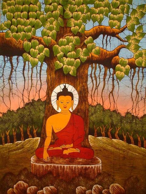 India - Prins Siddhartha bereikt verlichting